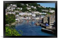 Boats on the River Looe, Framed Print