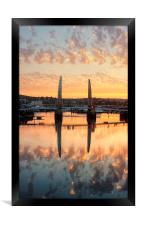 Sunset over Torquay Bridge, Framed Print