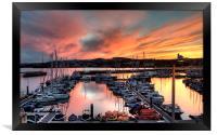 Sunset over Torquay Marina, Framed Print