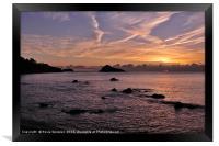 Sunrise Meadfoot Beach Torquay, Framed Print