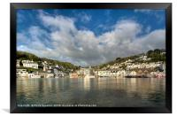 Big clouds over West Looe viewed from East Looe , Framed Print
