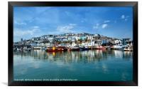 Reflections at Brixham Harbour, Framed Print