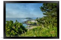 View of The Looe island and The Banjo Pier , Framed Print