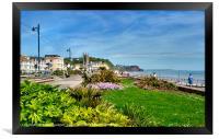Teignmouth Beach and Promenade , Framed Print