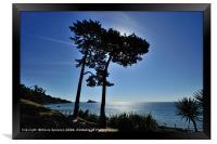 Meadfoot Beach looking towards Thatcher Rock, Framed Print
