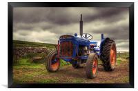 Fordson Super Dexta Tractor, Framed Print