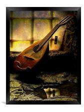 Antique Mandolin In The Castle Window
