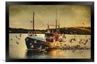 COMRADES With Catch Of Fish, Framed Print
