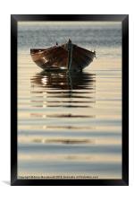 Small Boat Reflecting At Moorings, Framed Print