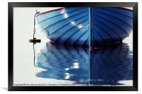 Small Blue Boat At Moorings, Framed Print