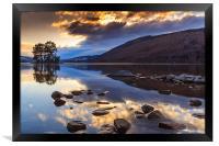 Loch Tay winter sunset, Framed Print