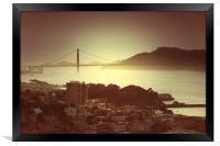 Golden gate bridge, Framed Print