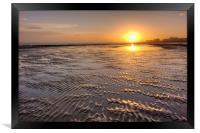 Rippled Sunset, Framed Print