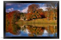 Autumn on the River Tyne at Hexham, Framed Print