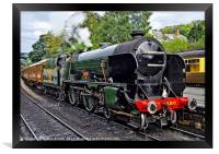 Steam train on the North York Moors Railway, Framed Print