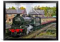 Steaming out of Grosmont, Framed Print