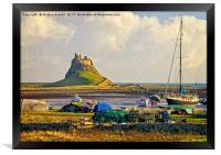 Holy Island and Lindisfarne Castle, Framed Print