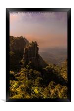 Pinnacle Rock - South Africa, Framed Print