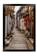Lijiang Sidestreet China, Framed Print