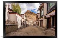 Gyantse Sidestreet, Tibet, Framed Print