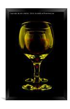 Two Wine Glasses, Framed Print