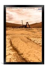 Salt and Clay Pan at Deadvlie, Namibia, Framed Print