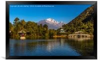 Black Dragon Lake, Lijiang, China, Framed Print