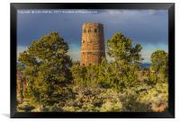 Desert View Watch Tower - Grand Canyon, Framed Print