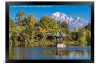 Black Dragon Lake, Lijiang, China, Framed Print