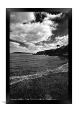 The Beach at Cwm yr Eglwys, Framed Print