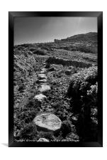 The Wales Coast Path at Carnfathach, Framed Print