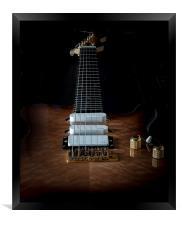 Electric six string guitar , Framed Print