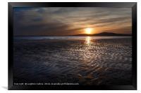 Aberavon sunset, Framed Print