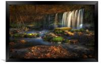 Sgwd Ddwli Uchaf waterfalls South Wales, Framed Print