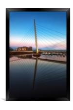 Swansea Millennium bridge , Framed Print