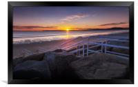 Aberavon beach sunset, Framed Print