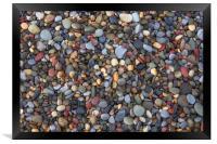 Small pebbles, Framed Print