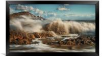 Crashing waves, Framed Print
