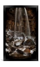 Winter at Melincourt waterfall, Framed Print