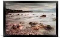 Rotherslade Bay rocks, Framed Print