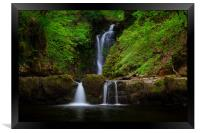 Sgwd Einion Gam waterfall, Framed Print