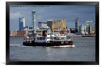 Mersey Ferry Royal Iris on the River Mersey, Framed Print