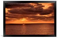 Atlantic Ocean sunrise., Framed Print