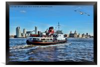 Royal Daffodil departing Seacombe for Liverpool, Framed Print