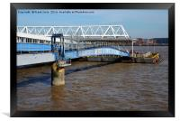 Seacombe Ferry, covered access, Framed Print