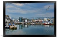 Part of Brixham harbour, Framed Print