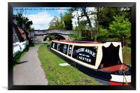 Canal boat at Christleton, Framed Print