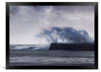 Fury of the Sea, Framed Print