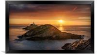 Mumbles Sunrise, Framed Print