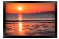 Summer Sunset, Framed Print